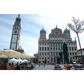 Augsburg Old Town Square Market Basylique Cathedral Church Architecture Germany