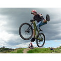 boy mtb mountainbike bike mountainbiker trick onefooter jump