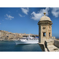 grand harbour cruise ship watch tower senglea valletta malta holiday