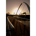 bridge river aire leeds architecture sunrise