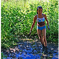 child play summer country mud water