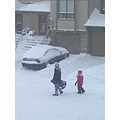 At 5:14pm-On our street-The big snowstorm in the GTA