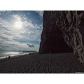 e620 sky clouds beach reynisfjara dyrholaey mountain cliffs Iceland