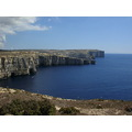 Cliffs in Dwejra Gozo Sister Island of Malta