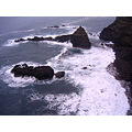 Madeira Portugal 2007 seixal down viewpoint rough sea view