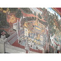 Wall paintings Wat Phrakaew Temple Bangkok Thailand