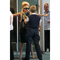Even a pop goddess like Lady Gaga gets checked out at the airport!