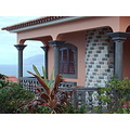 2008 portugal madeira seixal house pink view window village