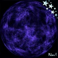 moon stars digitalart digitalartclub blue mellie