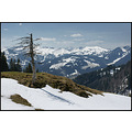 Allgau Alps End of April melting snow Germany