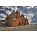 red brick pierhead building cardiff bay wales
