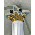 california redbluff victorian building trim column