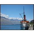 newzealand queenstown ship steamship lake