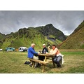 mountain people clouds landscape canyon iceland