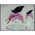 dragon glass purple black
