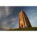 glastonbury tor hill sky church ancient ruin mythical england