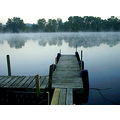dock pier boardwalk river marina morning sunrise misty foggy fog peaceful serene