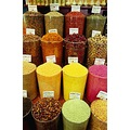 A bright array of baharat (spices) and cay (tea)