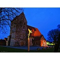 Angel Shadow Church Simrishamn Evening Skane Sweden 2012 Januari