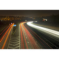motorway freeway m3 winchester night headlights lights trails light traffic