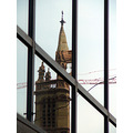 ReflectionThursday steepleclub reflection steeple church window crane
