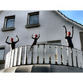 Mannequins red balcony Medebach vacation germany deutschland