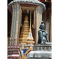 Adornings at the Wat Phrakaew Temple in Bangkok Thailand March 2006