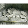 crying lion sculpture