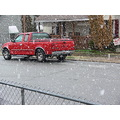 my neighbor's truck in the snow...