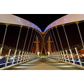 Landscape Salford Quays Manchester Uk Millenium Bridge Architecture