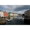 city norway alesund landscape scenery