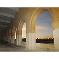 arches isla malta sunset sky