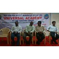 Dhanasekar on the dais when the Universal academy kallakurichi opened