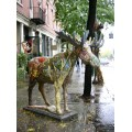 streetart sculpture moose