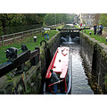 canal boat lock water yorkshire