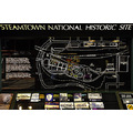 steamtown scranton pennsylvania map sign signage