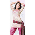 Off White Cotton Kameez with Trouser