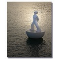 spain barcelona harbour statue sculpture water spaix barcx wates harbs sculs