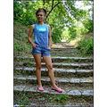 woman girl model wife portrait stairs nature Pleven Bulgaria