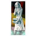 original art female figure bookmark