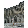 detroit michigan central station depot monolith ruin