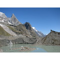 mountains glacier lake miage courmayeur val veny