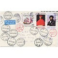 Bulgaria sofia Guangxi Binyang postmark stamps china envelope chinese postoffice