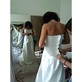 bride sister dress mirror reflection