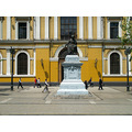 SANTIAGO    CITY TOUR  47   ANDRES BELLO SCULPTURE.    HE WAS A FORMER TEACHER OF VENEZUELAN GENE...