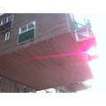 amsterdam architecture building box balcony cantilever sun purple color light