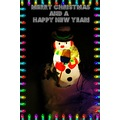 snowman Christmas lights greetings