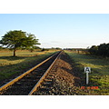 On and on and on  track near Pongola Natal South Africa
