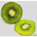 kiwi fruit green white