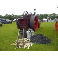 coal TRACTION ENGINE from behind